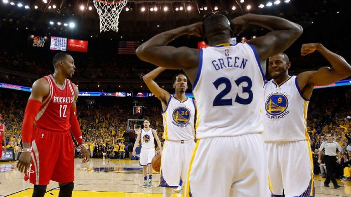 Warriors pueden celebrar sin Curry: eliminan a Rockets y están en semis de la Conferencia Oeste