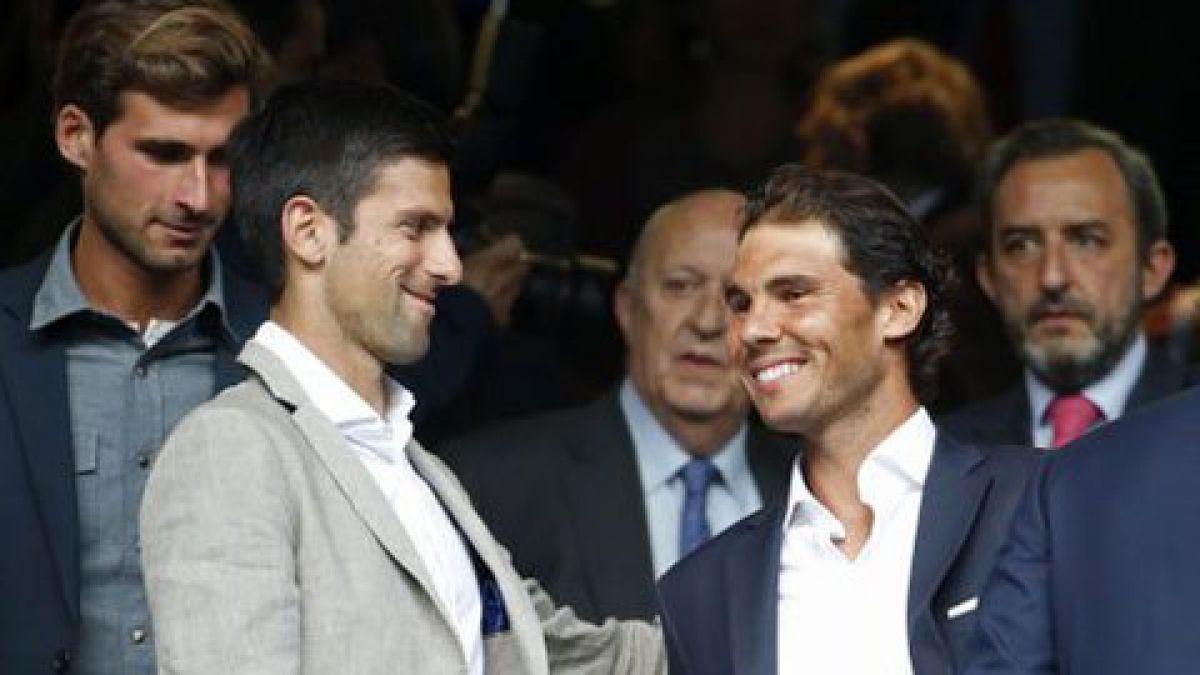 [FOTO] Djokovic y Nadal están presenciando el choque Real Madrid-City en Champions