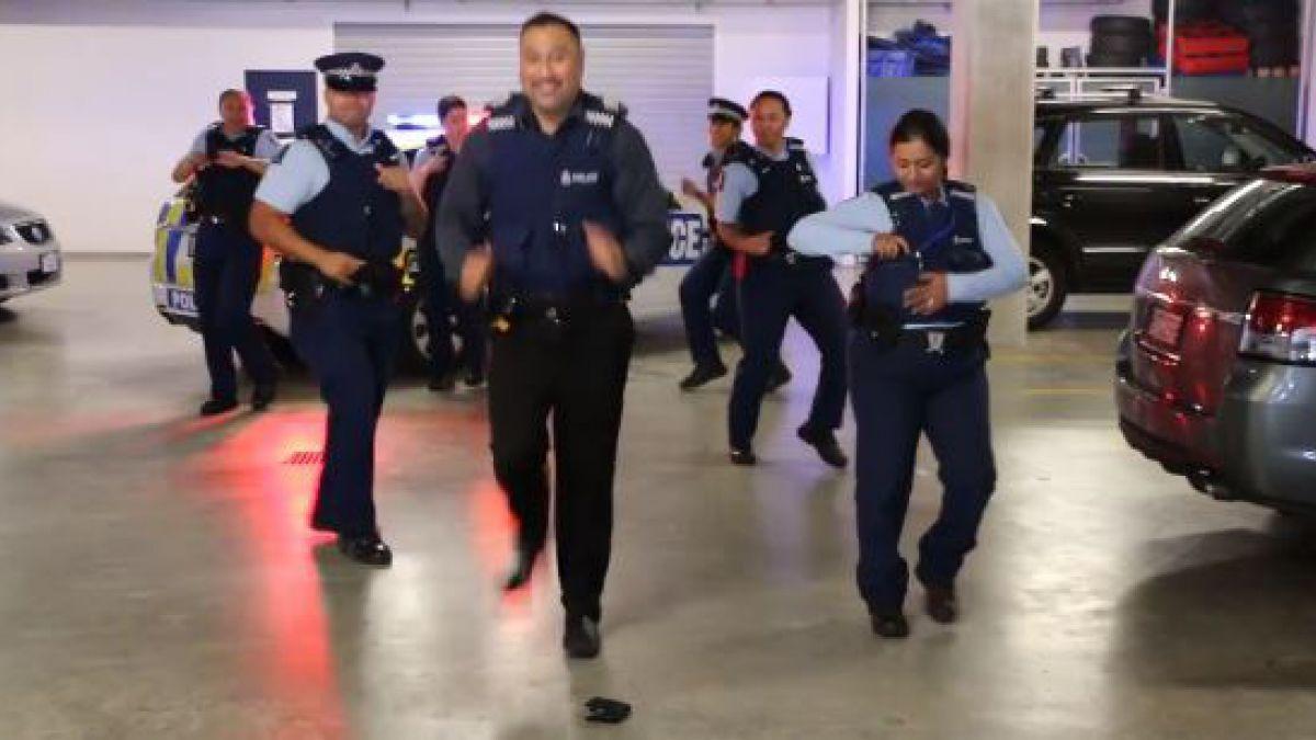Policías son un éxito viral con el reto
