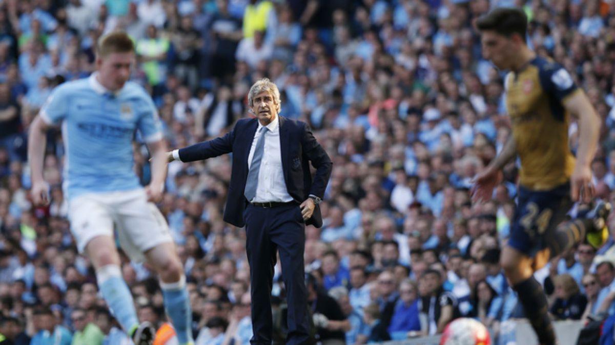 Pellegrini se despide de la hinchada del City en empate ante Arsenal con golazo de Alexis