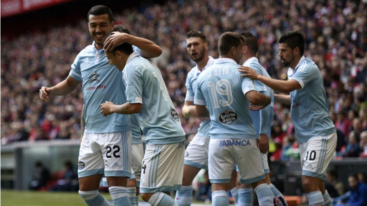 Celta triunfa ante Málaga con sus tres jugadores chilenos como titulares
