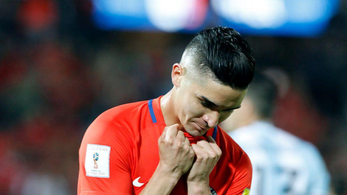 """Primera baja en """"La Roja"""": Felipe Gutiérrez queda fuera de Copa América Centenario"""