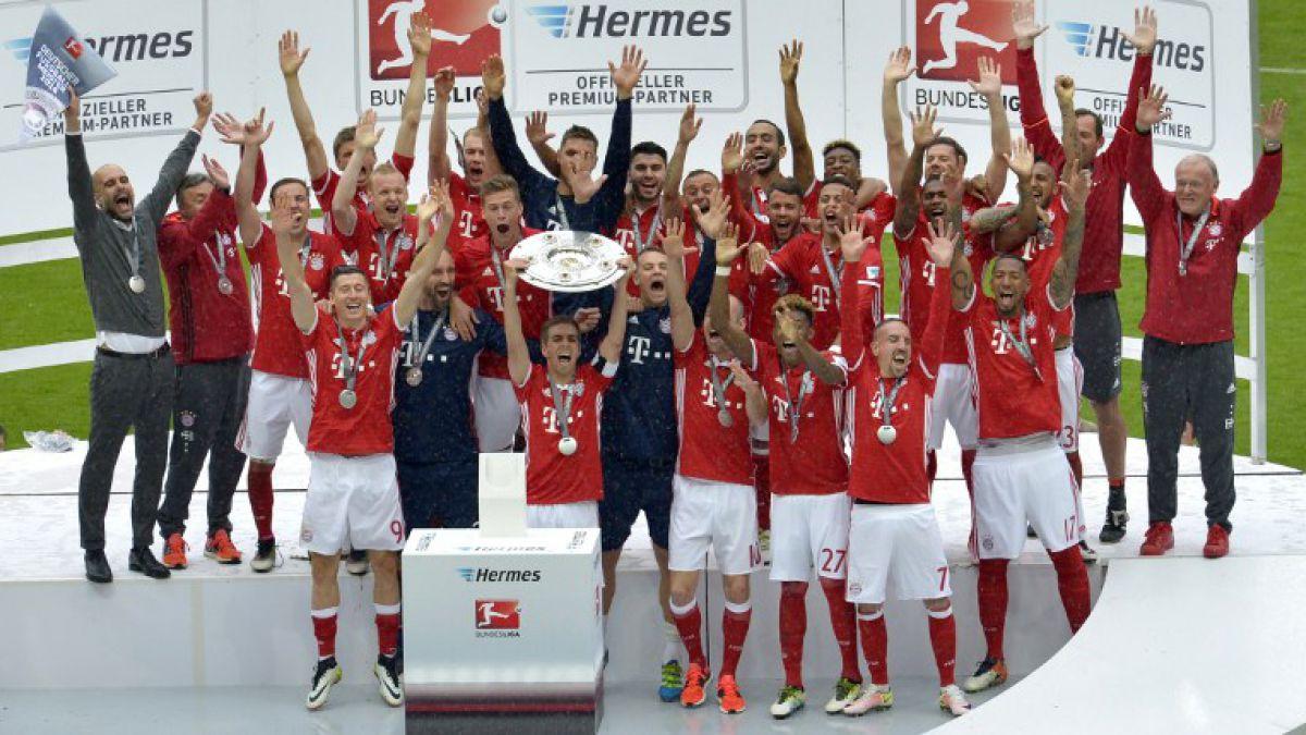 Vidal levanta corona de campeón con el Bayern que da su adiós al DT Guardiola