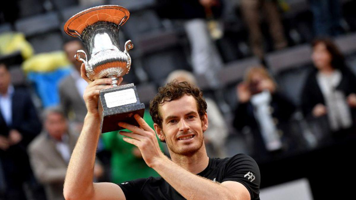 Murray vence a Djokovic y se titula campeón del Masters 1000 de Roma