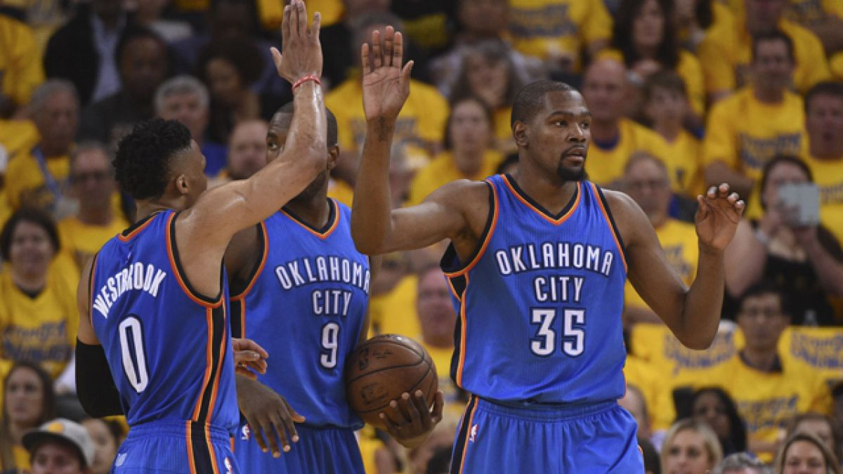 Oklahoma City Thunder sorprende a Golden State Warriors y toma ventaja en final del Oeste