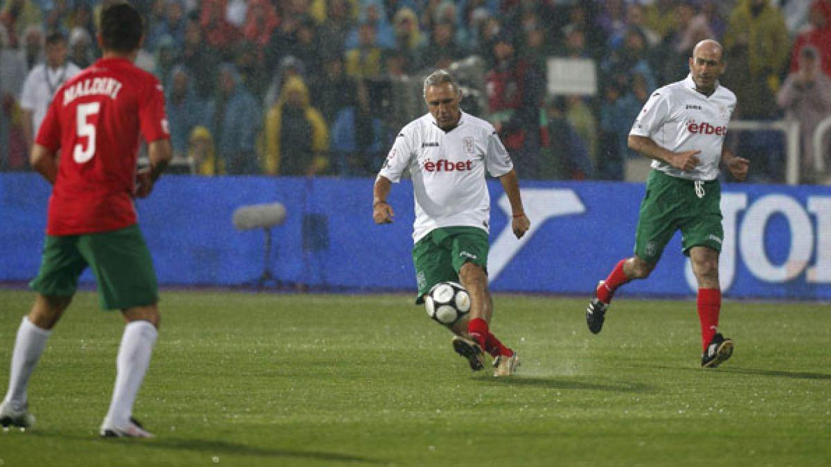 Hristo Stoichkov celebra sus 50 años con un partido de viejas glorias en Sofía