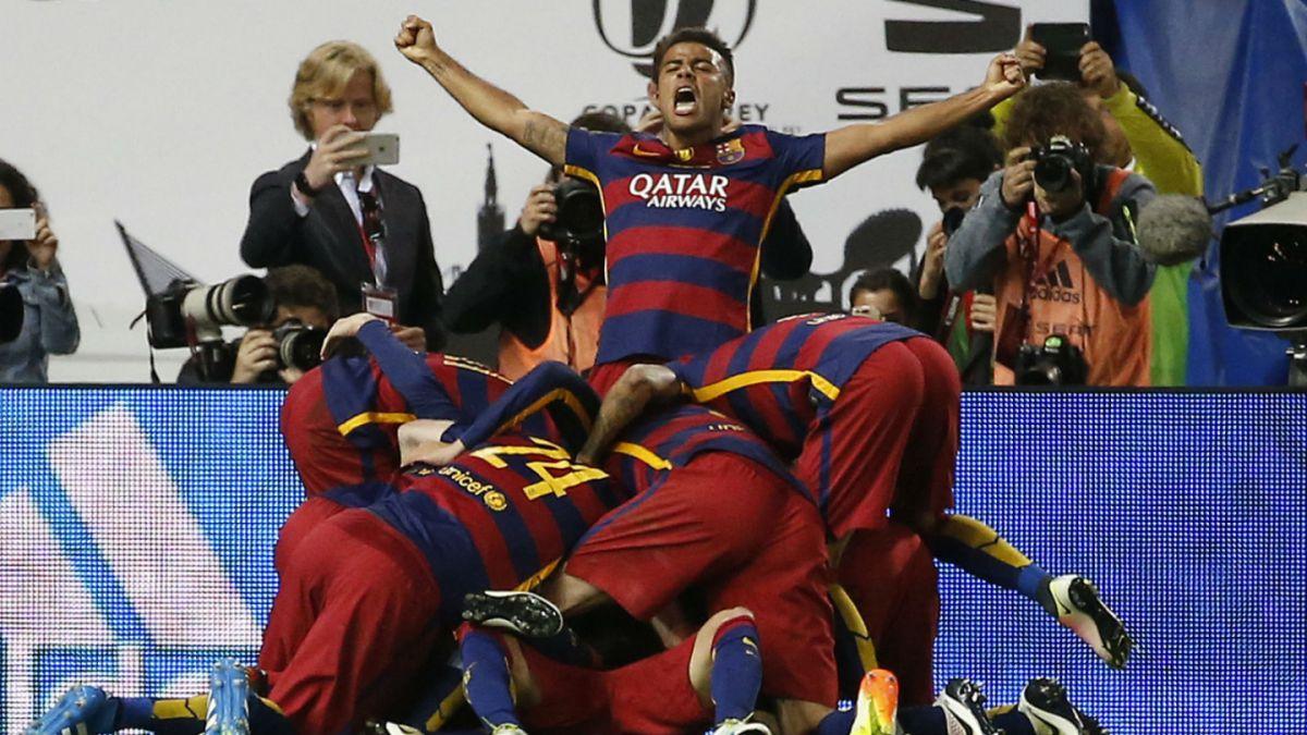 Campeones: Barcelona se consagra ante Sevilla en una sufrida final de Copa del Rey