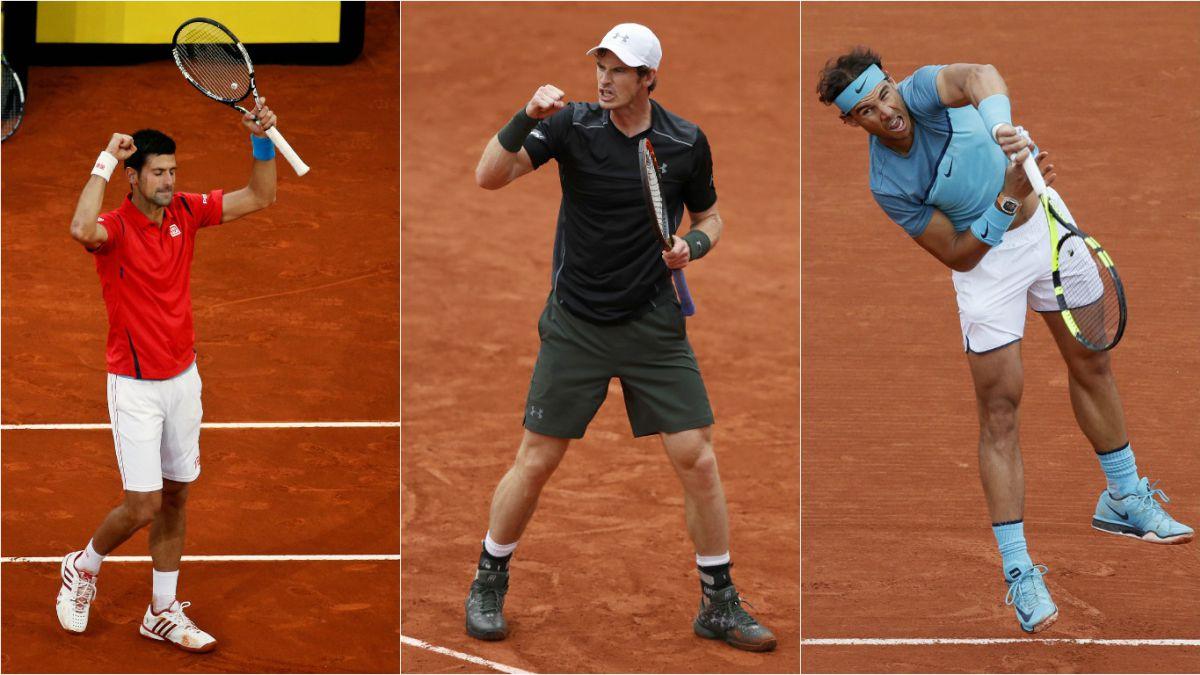 Djokovic, Murray y Nadal inician Roland Garros con triunfos