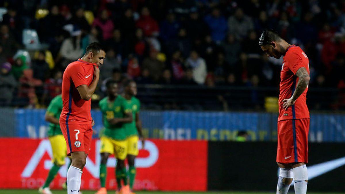 Chile cae sorpresivamente ante Jamaica en primer amistoso antes de la Copa Centenario