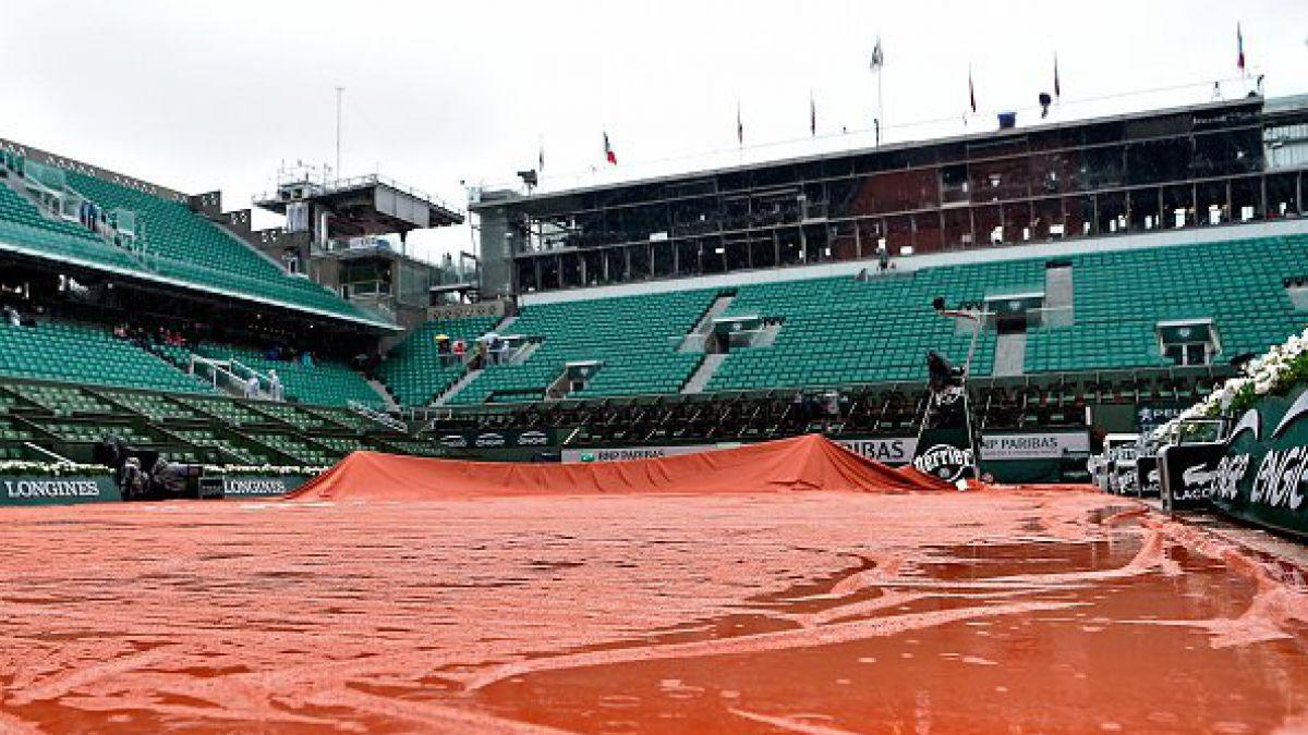 La lluvia obliga a suspender todos los partidos de este lunes en Roland Garros