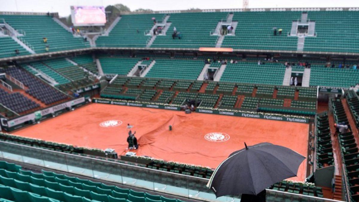 Otra vez la lluvia es protagonista en Roland Garros obligando a aplazar partidos