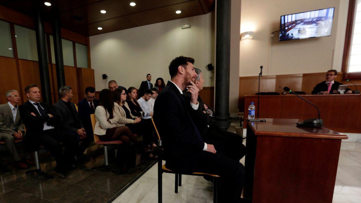 Lionel Messi testifica en Barcelona en su juicio por fraude fiscal