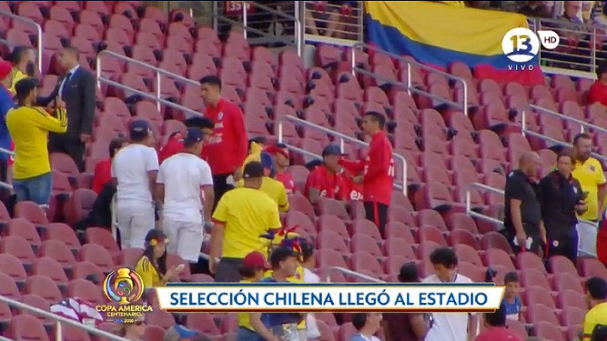 """Plantel de """"La Roja"""" asiste a Levi's Stadium para ver la ceremonia inaugural de la Copa Centenario"""