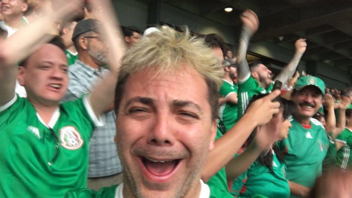 [VIDEO] La desaforada celebración de Cristian Castro tras triunfo de México ante Uruguay
