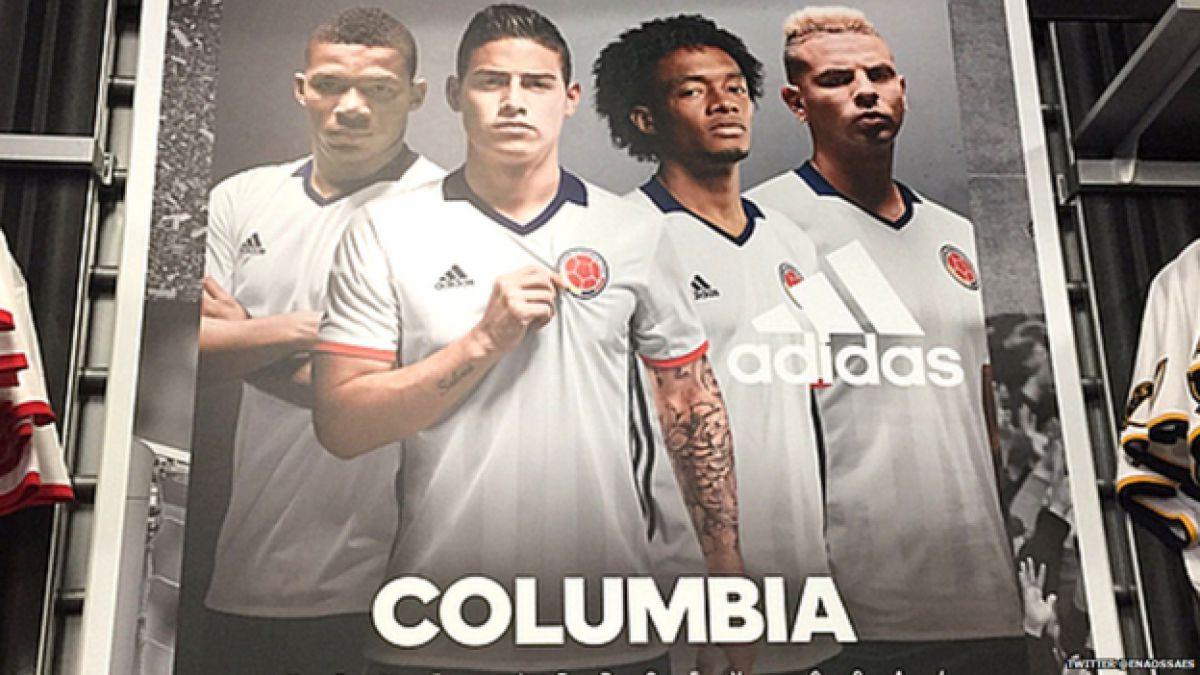 La confusión de una marca deportiva al llamar Columbia a la selección de Colombia