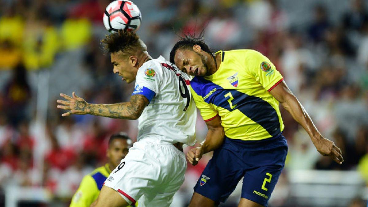Ecuador y Perú igualan y dejan en suspenso su clasificación a cuartos de la Copa Centenario