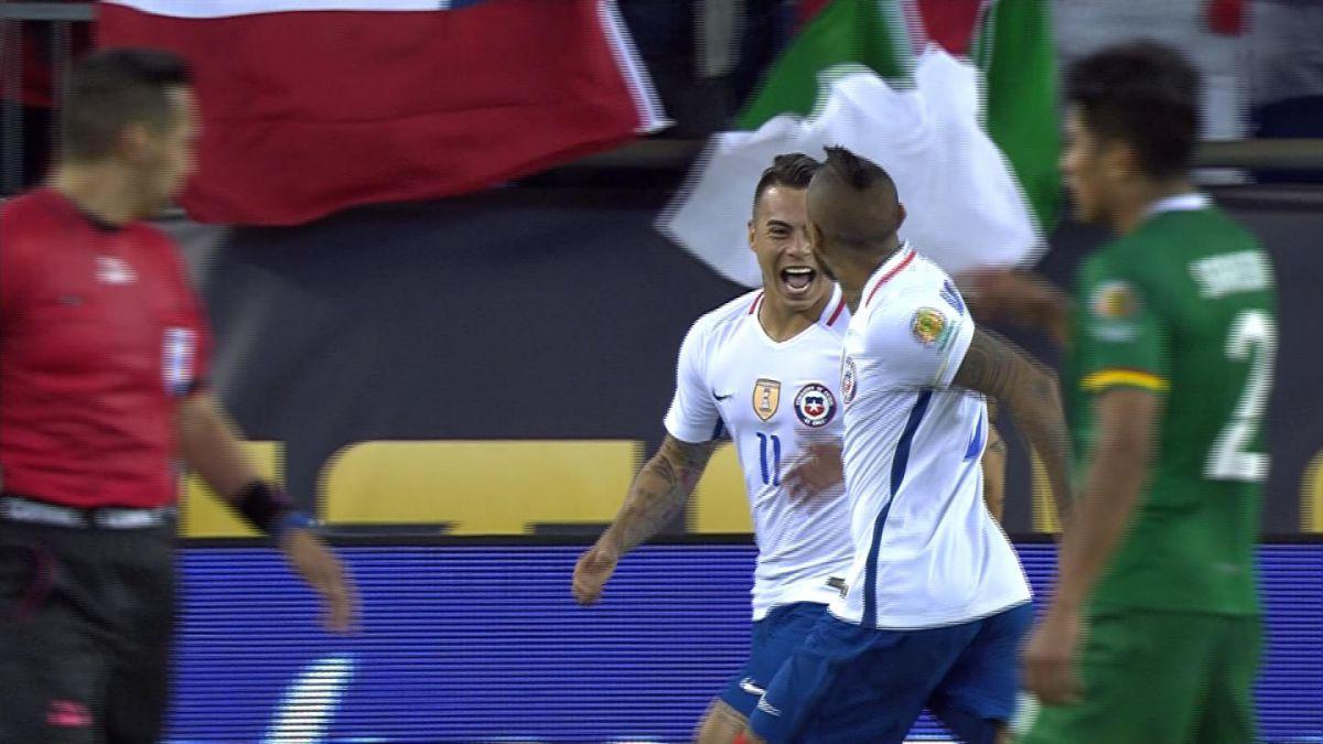 [VIDEO] Revive los goles del partido Chile-Bolivia en la Copa América Centenario