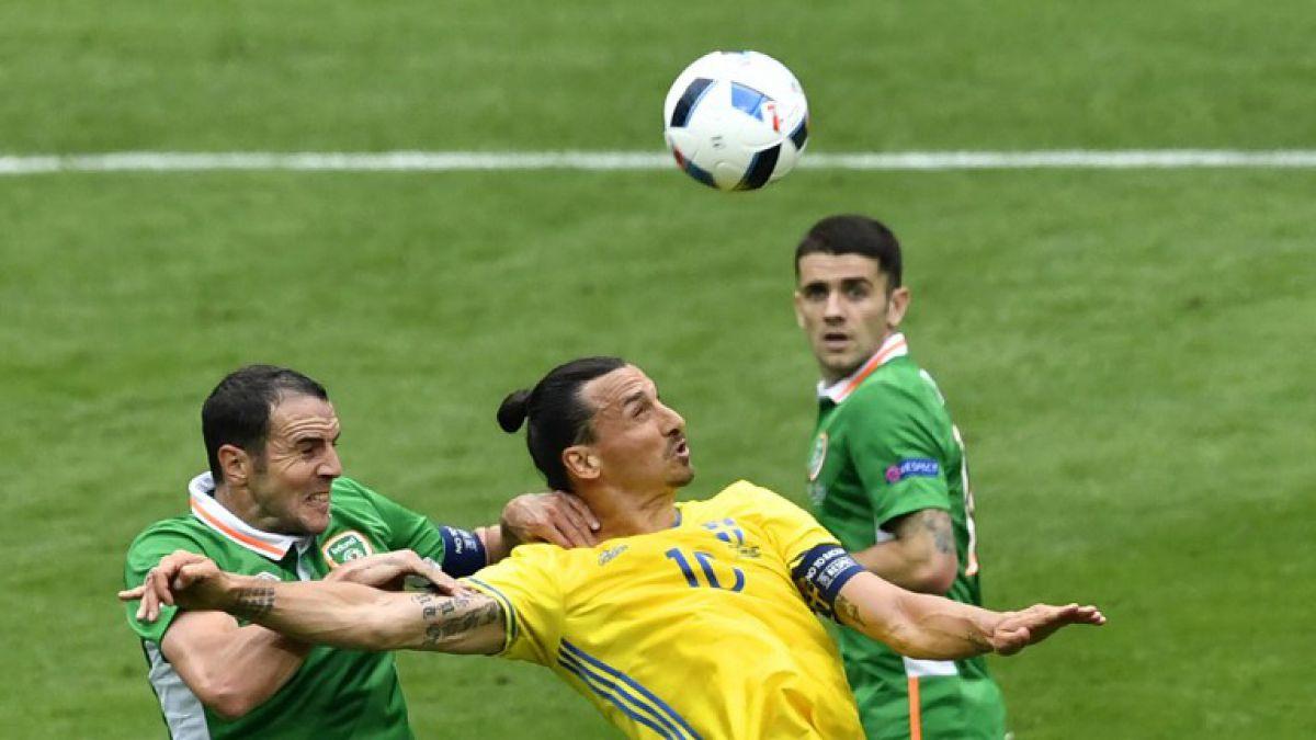 La curiosa imagen de Zlatan Ibrahomovic que dejó el empate de Suecia e Irlanda por la Euro 2016