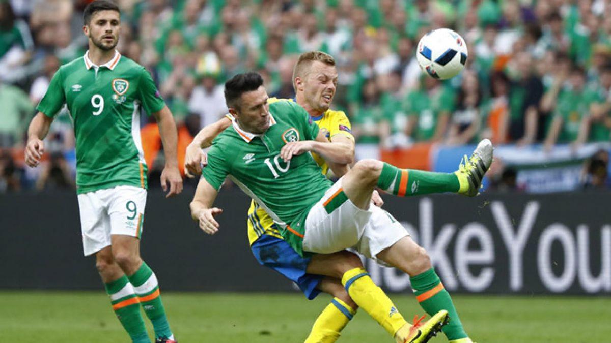 Irlanda y Suecia igualan en París por el Grupo E de la Eurocopa