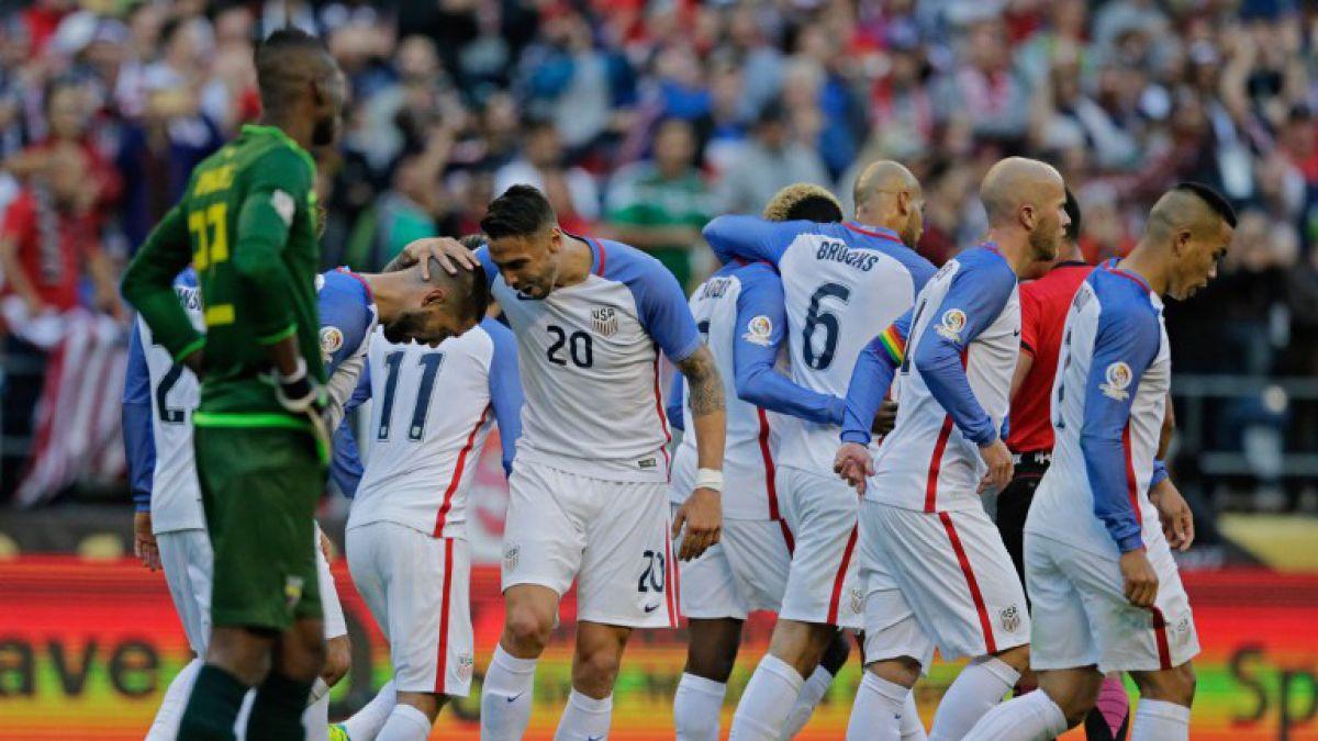 Estados Unidos sorprende a Ecuador y clasifica a semis de Copa Centenario