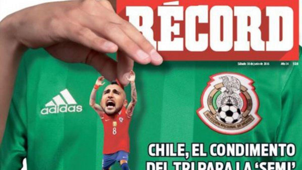 """Diario mexicano """"calienta"""" el partido ante Chile en la Copa Centenario"""