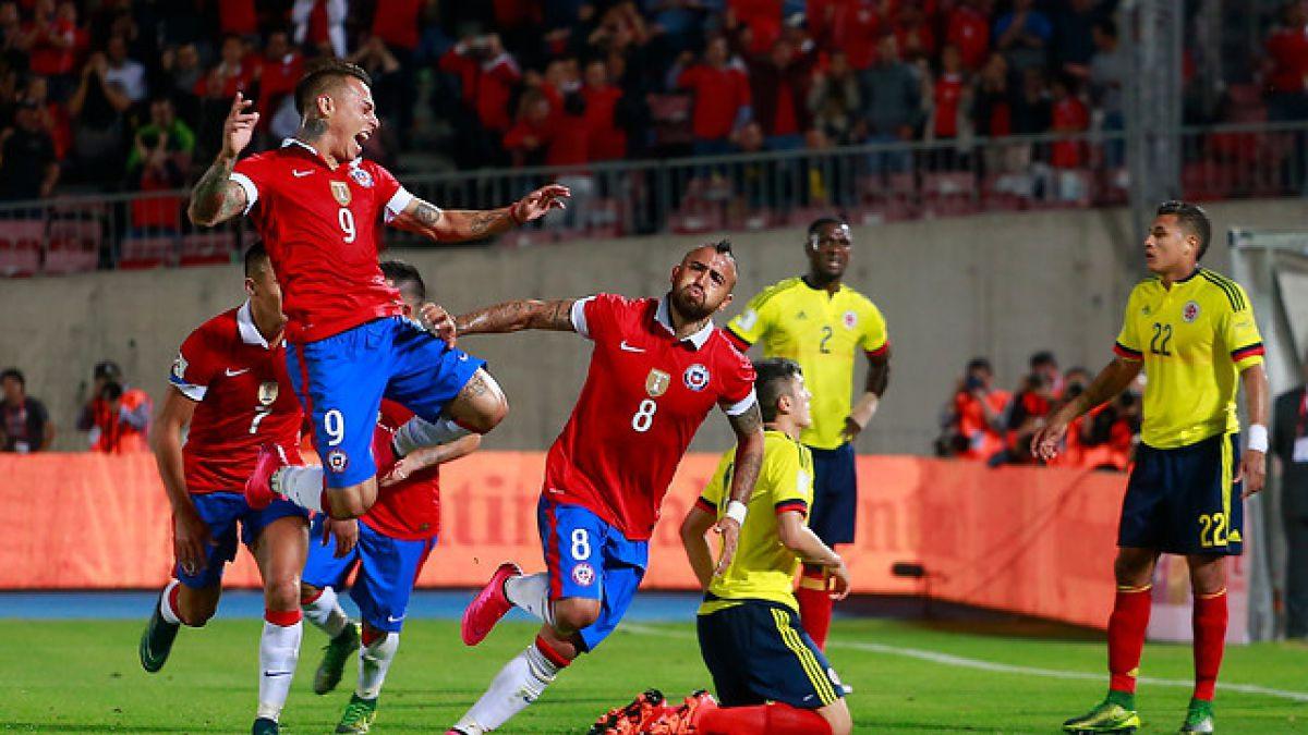 """Chile y sus duelos ante Colombia: Supremacía de """"La Roja"""" en Copa América"""