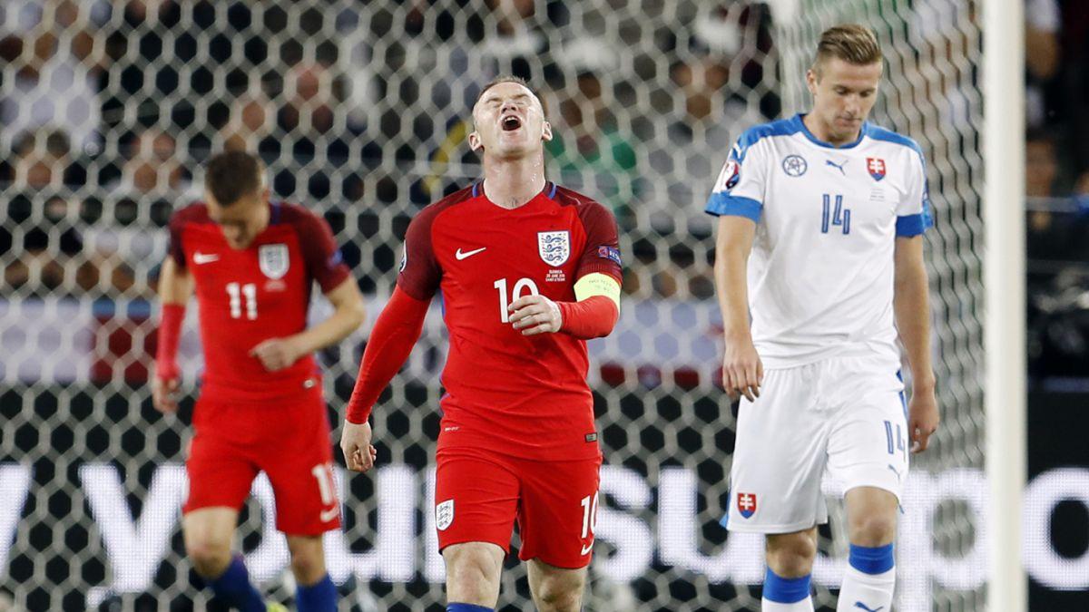Inglaterra no pudo con Eslovaquia y clasifica en el segundo lugar de su Grupo