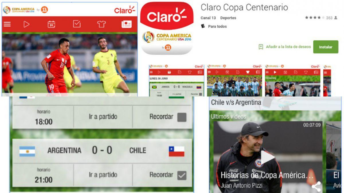Vive la gran final de la Copa América Centenario en nuestra aplicación de Canal 13