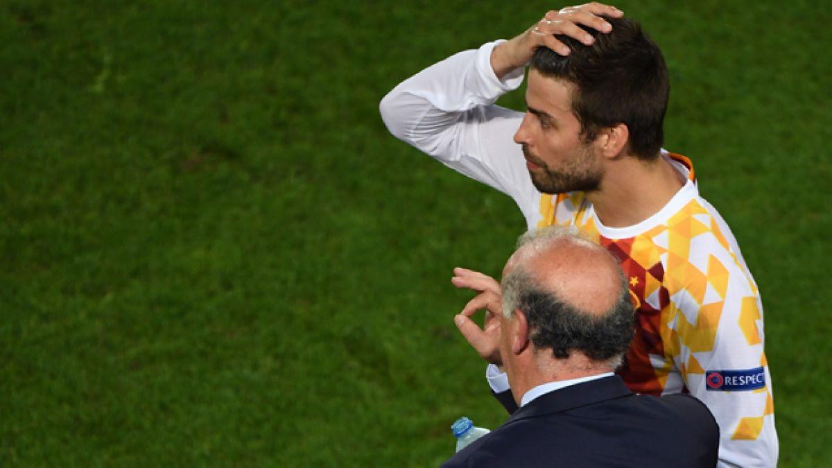 """Gerard Piqué aclara """"gesto"""" que realizó durante himno de España en Eurocopa"""