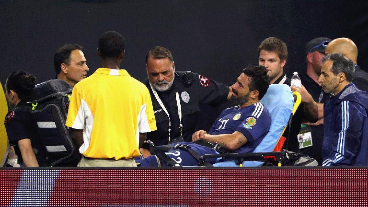 Ezequiel Lavezzi sufre luxofractura de codo y queda fuera de la final de Copa Centenario