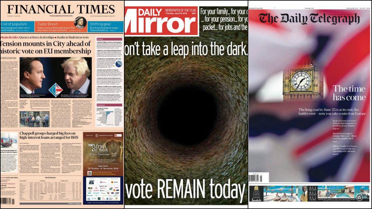 Brexit: las posturas a favor y en contra de los principales medios británicos
