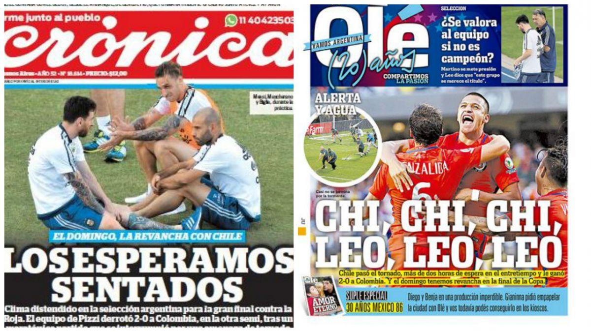 Los esperamos sentados: Así reaccionó la prensa argentina tras el triunfo de Chile