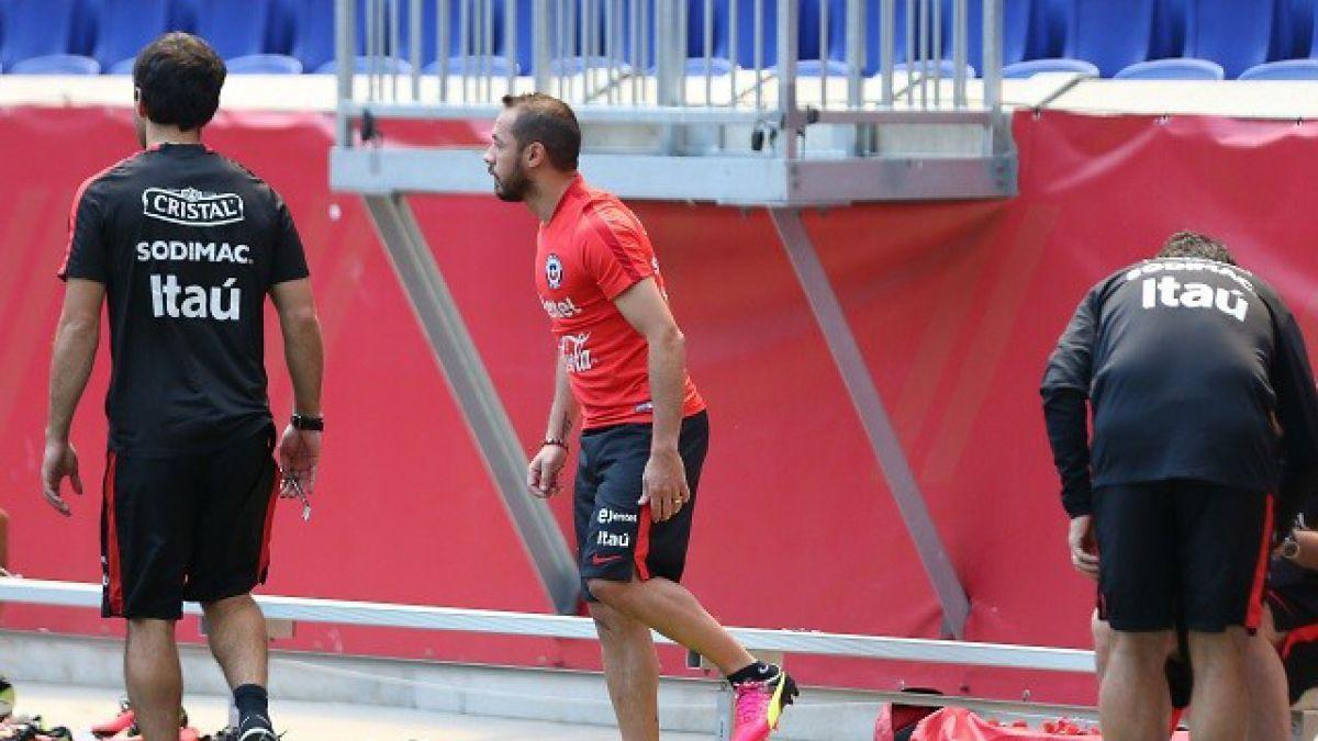 Marcelo Díaz entrena con normalidad y ya se arma oncena de cara a la final con Argentina
