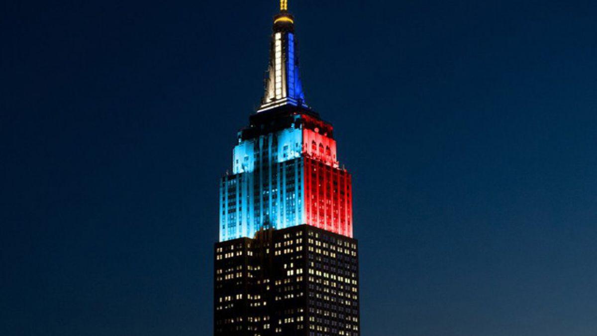 El Empire State se ilumina con los colores de Chile y Argentina de cara a la gran final de la Copa