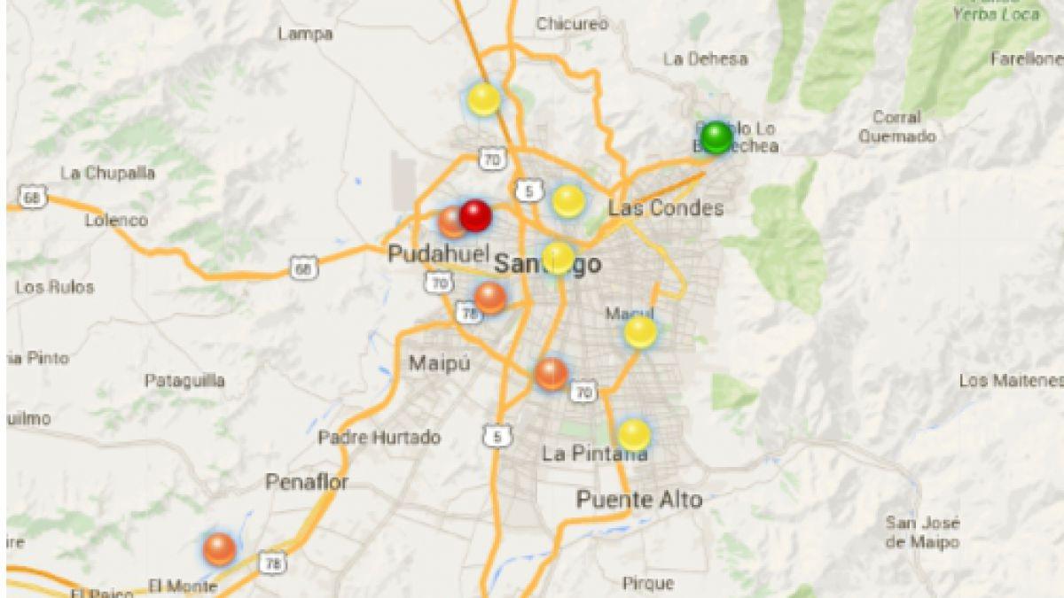 Conoce El Mapa Que Monitorea La Calidad Del Aire En Santiago Tele 13