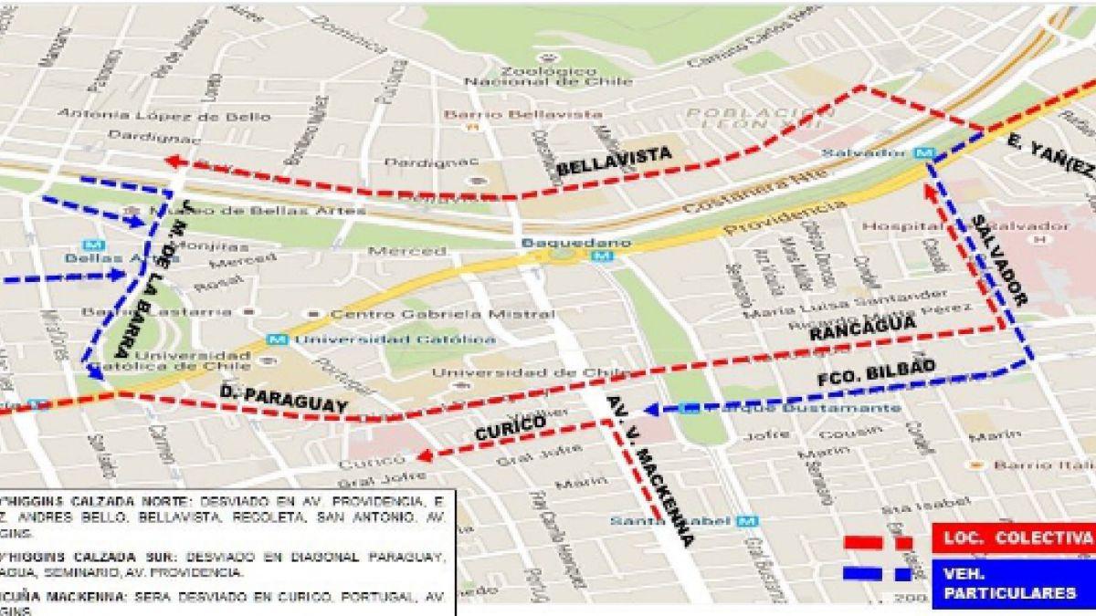 [MAPA] Estos son los cortes de tránsito por los festejos en Plaza Italia