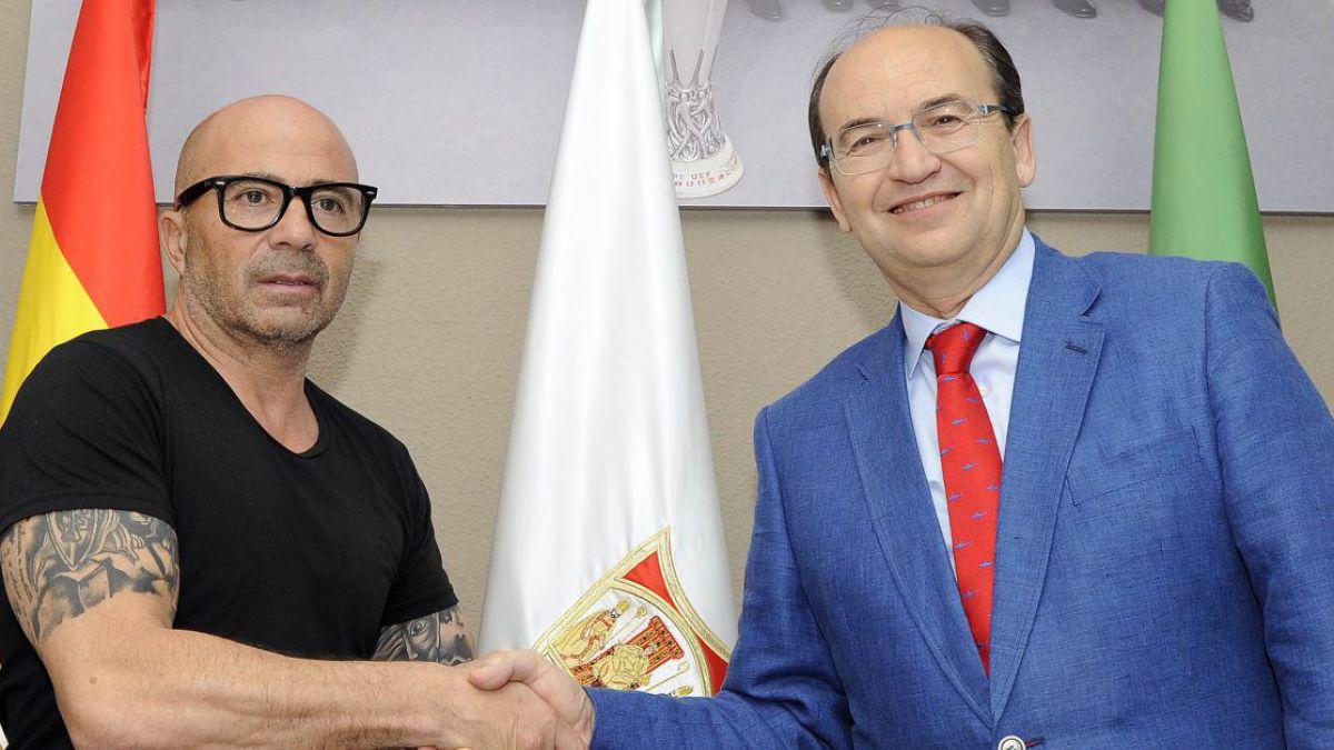 Oficial: Sevilla confirma llegada de Jorge Sampaoli por las próximas dos temporadas