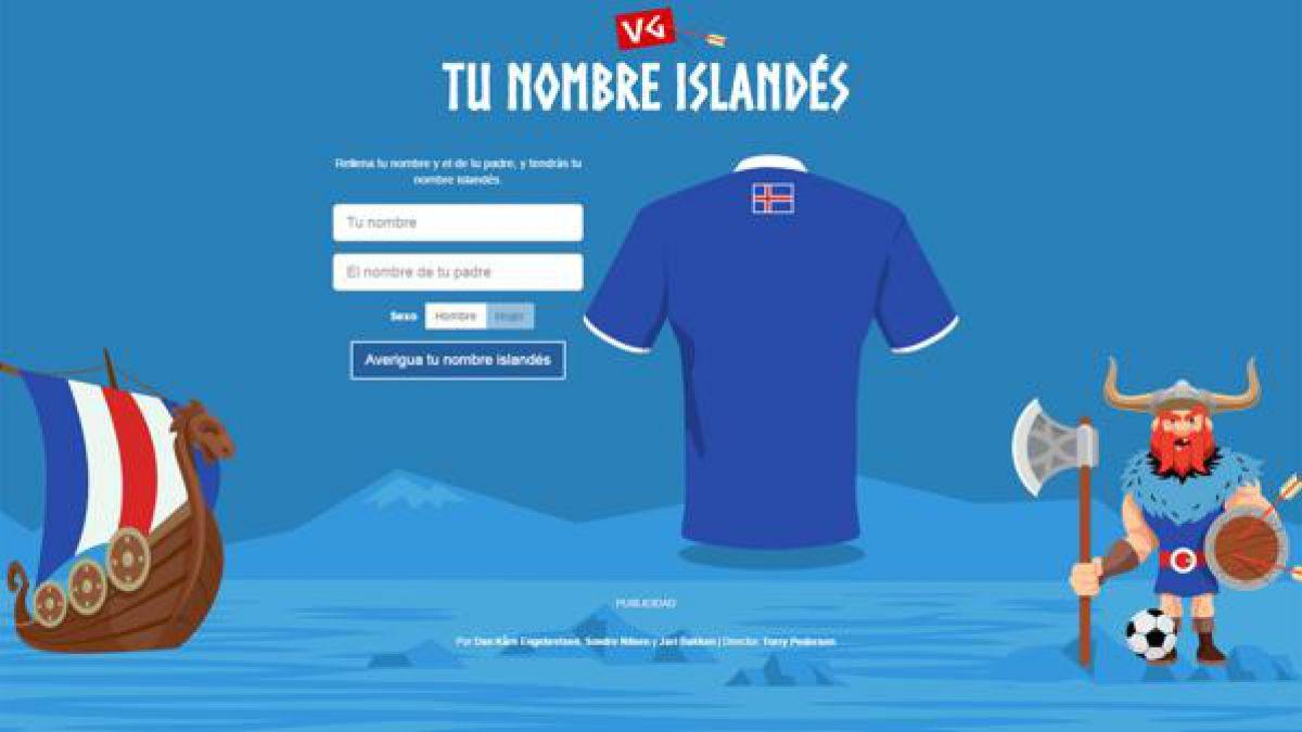 La ingeniosa aplicación para saber cómo te llamarías si jugaras en la selección de Islandia