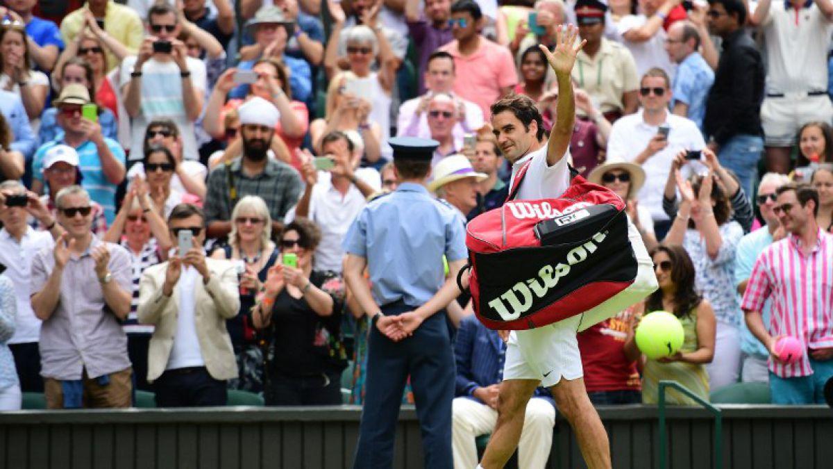 Federer avanza con autoridad y registrando récord a los cuartos de final de Wimbledon