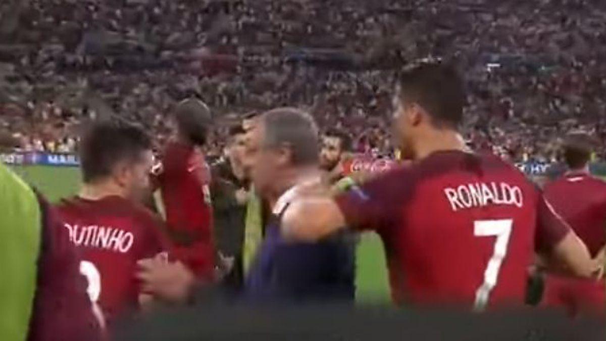 [VIDEO] Revelan el momento en que Cristiano Ronaldo obliga a un compañero a patear en los penales