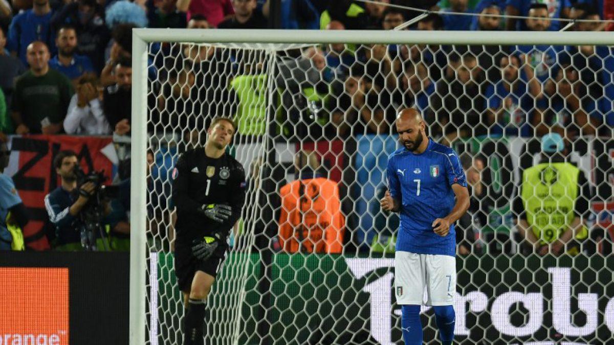 Delantero de Italia ofrece disculpas por comentado penal fallado ante Alemania