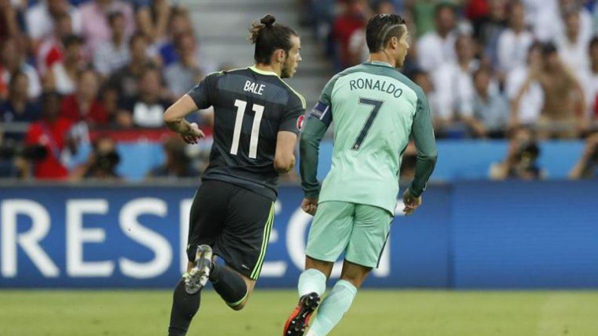 El distante saludo entre Cristiano Ronaldo y Gareth Bale durante la semifinal de la Euro 2016