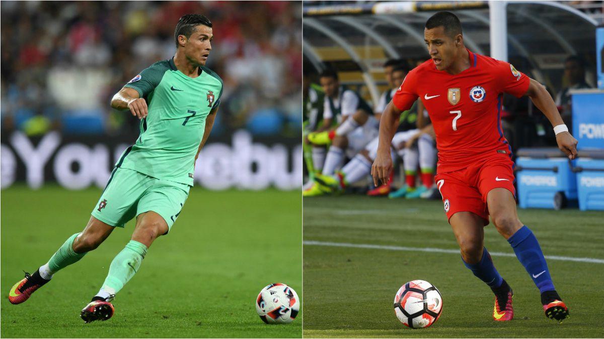Portugal y Cristiano Ronaldo serán rivales de Chile en la Copa Artemio Franchi