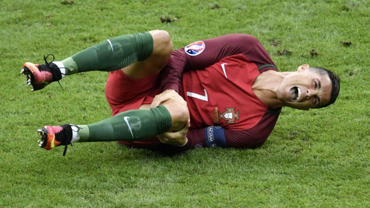 Lesión de Cristiano Ronaldo en final de la Eurocopa tiene su primer diagnóstico