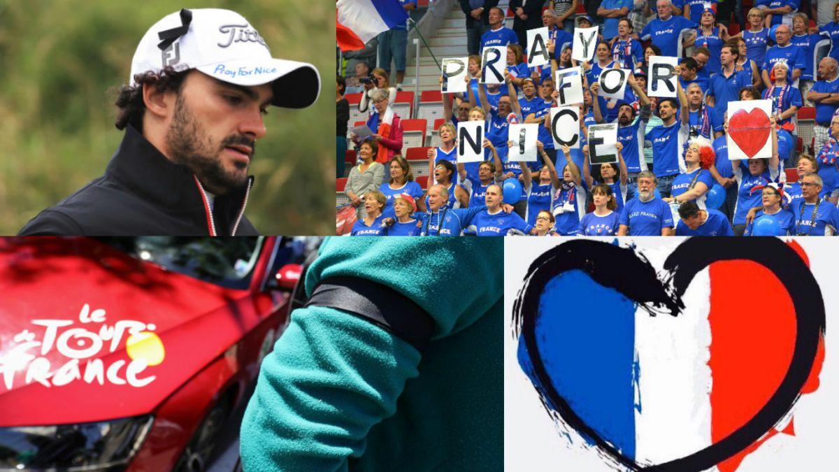 Minuto de silencio, cintas negras y mensajes del mundo del deporte en honor a víctimas de Niza