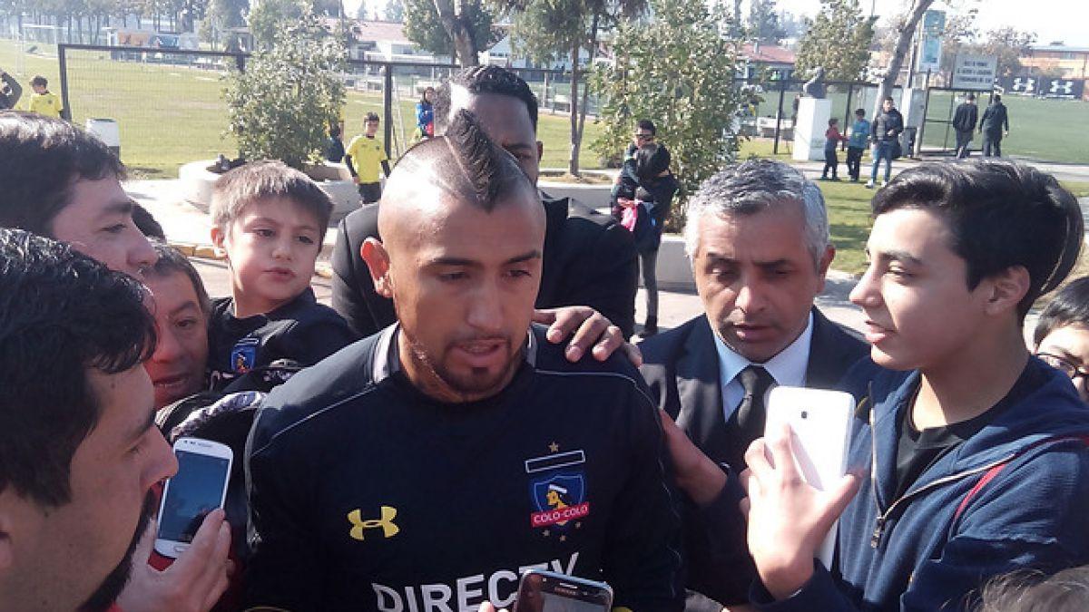 """Arturo Vidal tras entrenar en Colo Colo: """"Vine a ver a mis amigos y a mi papi"""""""