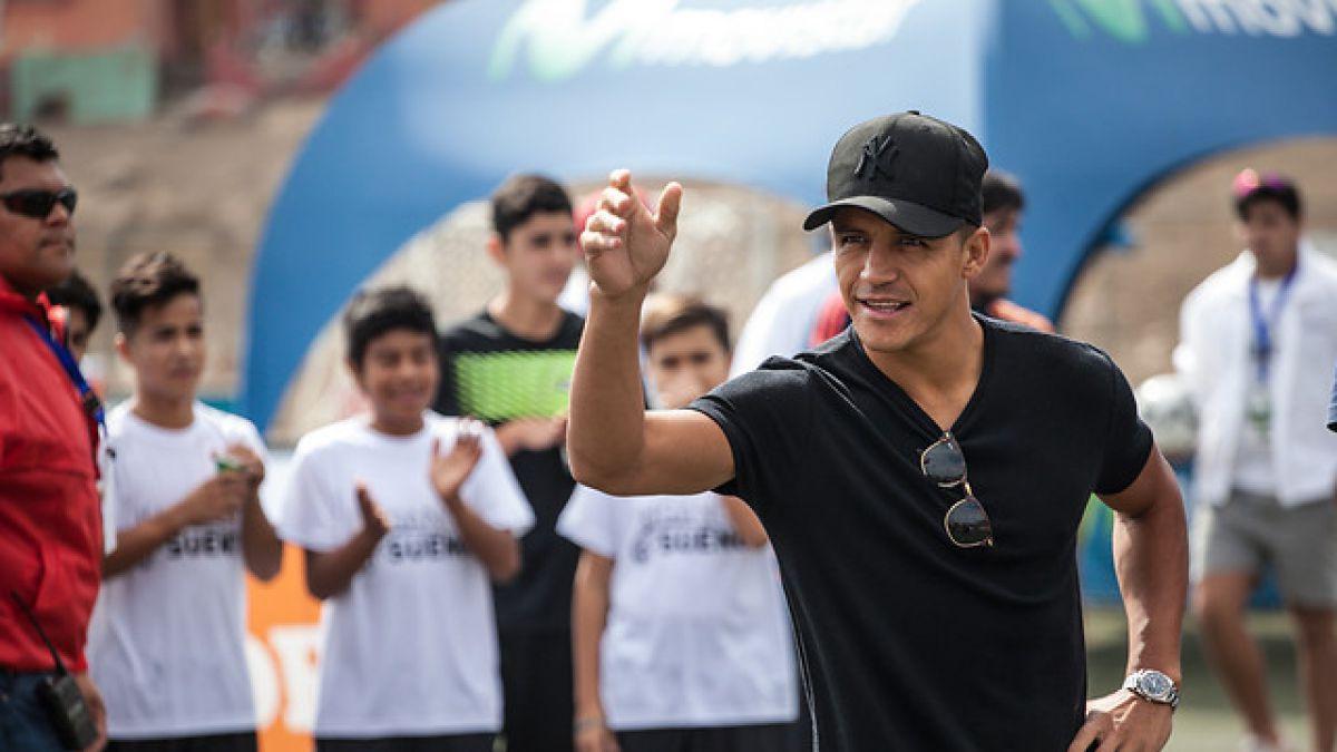 """Alexis Sánchez da mensaje en Tocopilla: """"Vine para darle una alegría a los niños"""""""