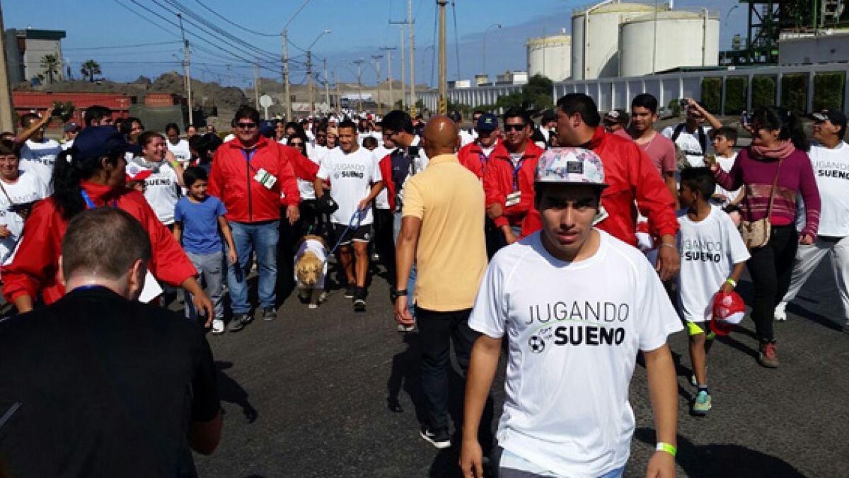 Tocopillanos llegan en masa para participar en corrida organizada por Alexis