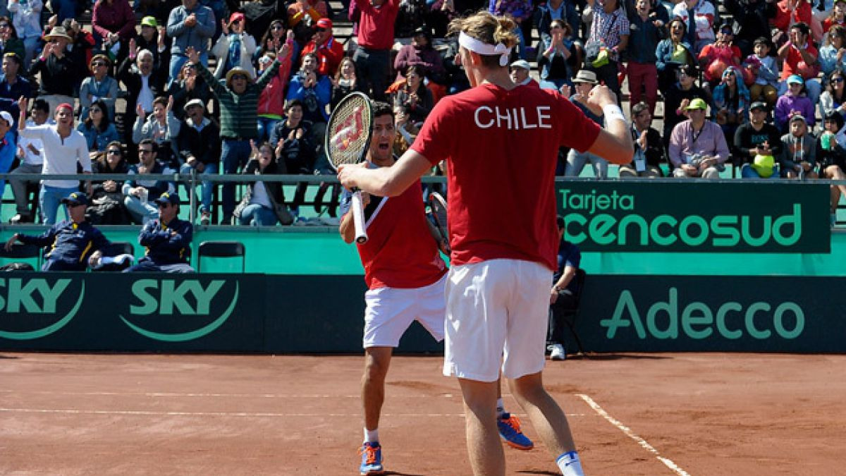 Chile gana el dobles ante Colombia y queda 2-1 arriba en serie de Copa Davis