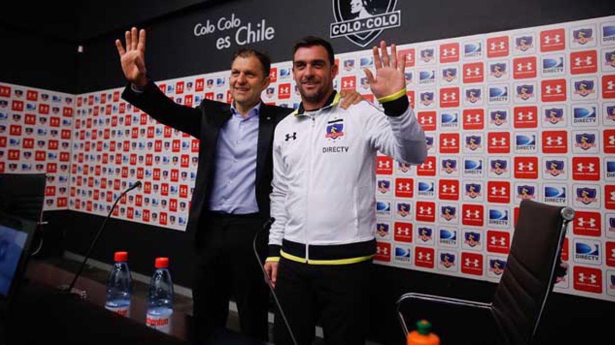 Guede es presentado como nuevo técnico de Colo Colo y lamenta partida de Beausejour